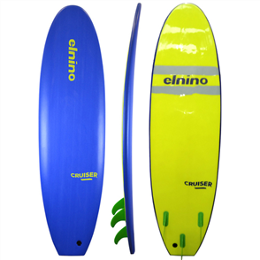 El Nino Cruiser Softboard, Deep Blue, 6'6