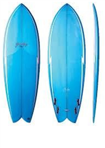 Gerry Lopez Something Fishy PU Quad-fin, Light Blue, 5'10