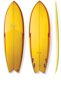 Gerry Lopez Something Fishy PU Quad-fin, Yellow, 6'4