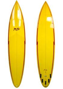 Gerry Lopez Pocket Rocket PU Tri-fin, Yellow, 6'4