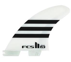 FCS II JW PC Medium Thruster Set Black/White Tri