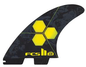 FCS II AM PC Large Yellow 5 Fins Set