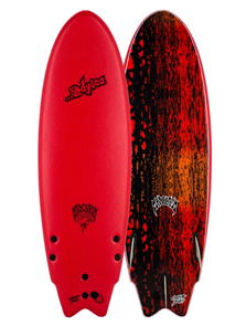Odysea X Lost RNF 5'5 Round Nose Fish Surfboard, Red