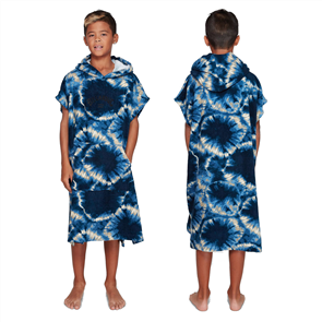 Billabong BOYS HOODED TOWEL, BLUE TIE DYE
