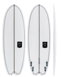 Creative Army Taco HD Stringer Hull PU Short Board, Clear