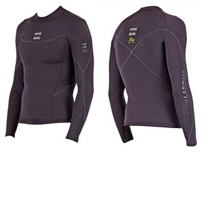 Billabong Xero Pro 1mm Long Sleeve Jacket, Black