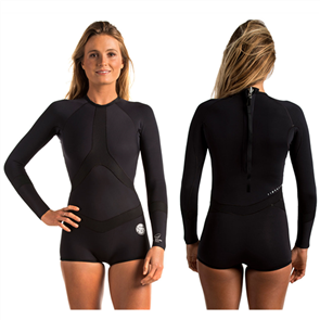 Rip Curl Madison Long Sleeve Boyleg Springsuit, Black