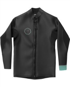 Vissla North Seas Smoothy Front Zip Jacket, Black