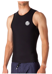 Flashbomb lined 0.5mm Sleeve less Vest, Black