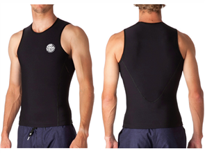 Rip Curl Flashbomb lined 0.5mm Sleeve less Vest, Black