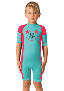 Rip Curl Youth Dawn Patrol Short Sleeve Spring Suit, Pink