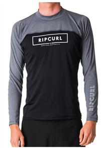 Rip Curl Underline Relaxed Long Sleeve Uv Tee, Black