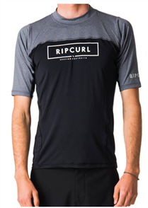 Rip Curl Underline Relaxed Short Sleeve Uv Tee, Black