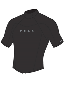 Peak 1.5mm Energy Short Sleeve Wetsuit Jacket, Black