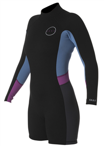Peak 1.5mm Womens Energy Long Sleeve Spring Suit, Black