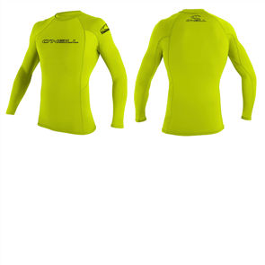 Oneill Basic Skins Long Sleeve Crew, Lime 187