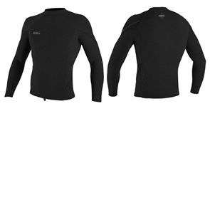 O'Neill Hyperfreak 1.5MM TB3X Long Sleeve Crew, Black