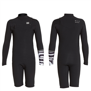 Billabong Boys 2/2mm Revolution Gbs Long Sleeve Spring Suit, Graphite