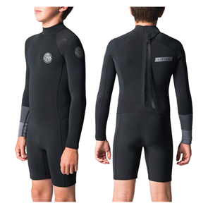 Rip Curl Boys Aggro 1.5Mm Long Sleeve Spring Suit, 0090 Black