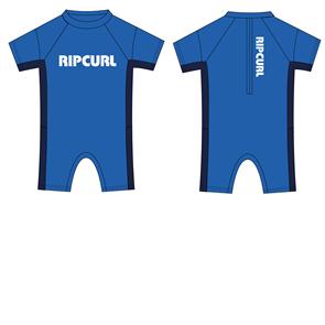 Rip Curl Kids Dawn Patrol Short Sleeve Spring Suit, 0070 Blue