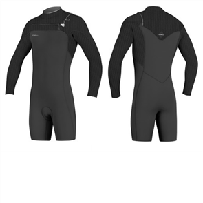 Oneill Hyperfreak Fuze 2/2mm Long Sleeve Spring Suit, Black