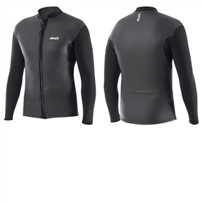 Vissla Front Zip Jacket Smooth Skin, Black