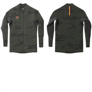 Vissla Boys The Trip Front Zip Jacket, Camo