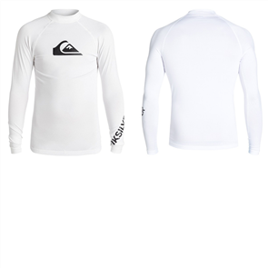 Quiksilver All Time Long Sleeve Youth Rashguard, White