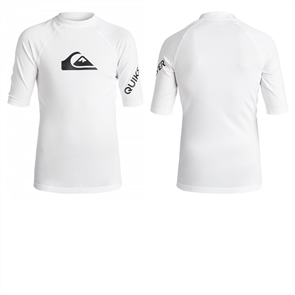 Quiksilver All Time Short Sleve Youth Rashguard, White