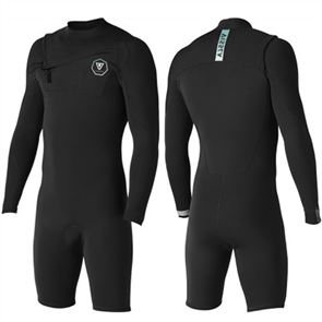 Vissla 7 SEAS 2/2mm Long Sleeve SPRING, Black With Jade