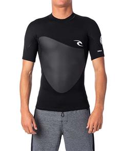 Rip Curl Omega 1.5Mm Short Sleeve Jacket, Black