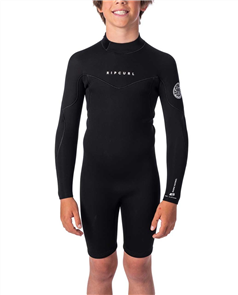 Rip Curl Boys Dawn Patrol Long Sleeve Spring, Black
