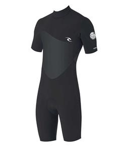 Rip Curl Junior Boys Omega 1.5Mm Short Sleeve Spriing Suit, Black