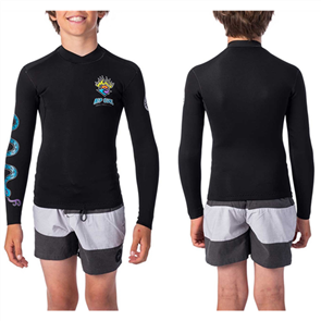 Rip Curl Junior Dawn Patrol Long Sleeve Jacket, Black