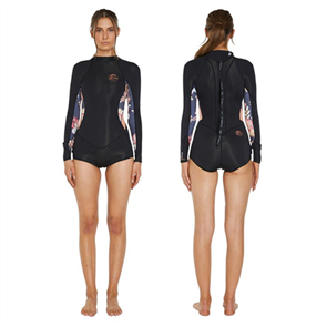 Oneill Bahia 2mm Long Sleeve Mid Spring Suit, Black/ Catcus/ Twor