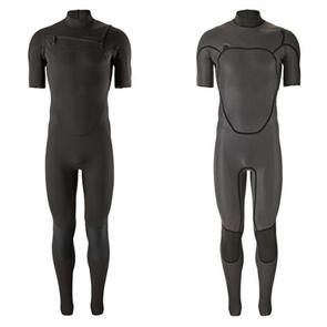 Patagonia Men's R1 Lite Yulex Chest Zip Short Sleeve Full Suit, Black
