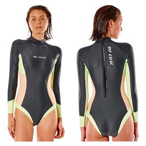Rip Curl SURF REVIVAL LS BZ SURFSUIT, WASHED BLACK