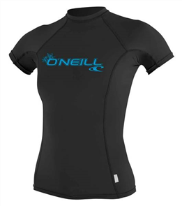 Oneill Womens Basic Skins Short Sleeve Crew, Black 002