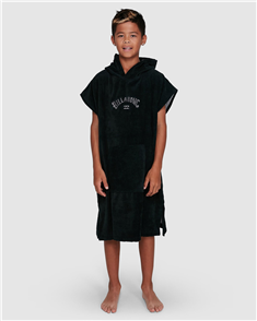 Billabong 100% COTTON BOYS WETSUIT HOODED TOWEL, BLACK