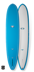 Takayama Beach Break Tuflite Pro Carbon Surfboard - Blue/White