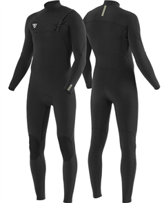 Vissla 7 SEAS COMP 4-3 FULL CHEST ZIP STEAMER, Black 2