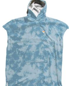Vissla Boys Changing Poncho, Blue Tie Dye