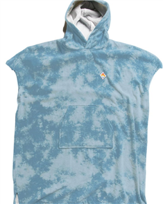 Vissla 100% COTTON ADULTS CHANGING TOWEL PONCHO, BLUE TIE DYE
