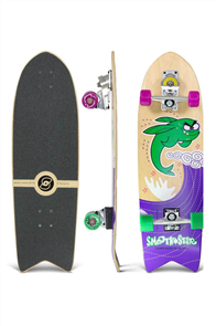 """SmoothStar Flying Fish 32"""" Surf Skateboard, Green"""