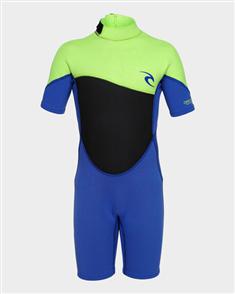 Rip Curl Junior Omega 1.5Mm Short Sleeve Spring Suit, 4078 Lime