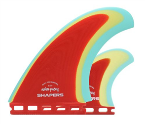"Shapers AP 5.59"" Red S-Tab Ltd Edition Pro Glass Twin Fin"