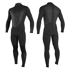 Oneill Superfreak Back Zip 4/3Mm Steamer, Black