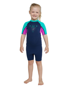 Oneill TODDLER REACTOR BZ SS 2MM SPRING SUIT, NAVY/ BERRY