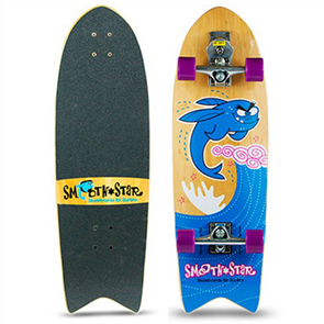 "SmoothStar Flying Fish 32"" Surf Skateboard, Blue"