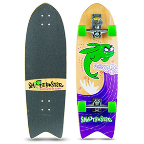 "SmoothStar Flying Fish 32"" Surf Skateboard, Green"